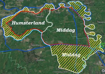 Middag-Humsterland erfgoed en prov. begrenzing buitengebied