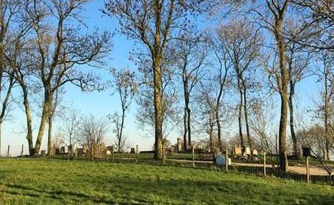 Wierdebegraafplaats in Wierum